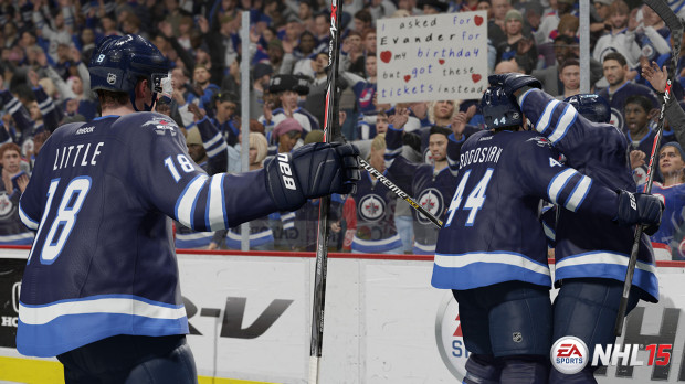 The NHL 15 PS4 and Xbox One games offer major enhancements.