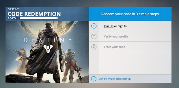Start the Xbox 360 and Xbox One Destiny Beta sign up.