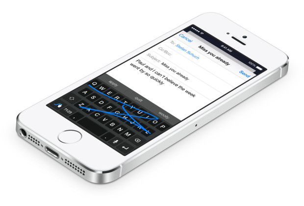 iOS 8 is more open, including third-party keyboards.