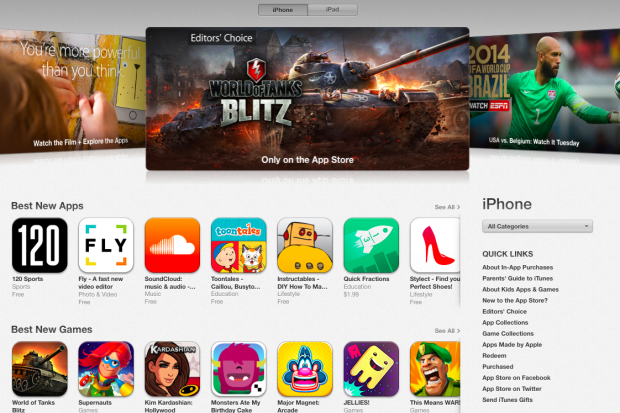 picture of iPhone 5s App Store