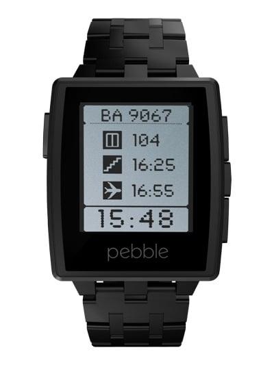 pebble steel with black band