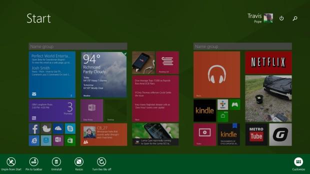 start screen