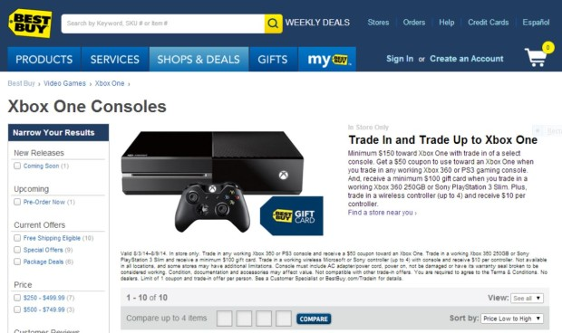 Best Buy XBox ONe deal August 5th