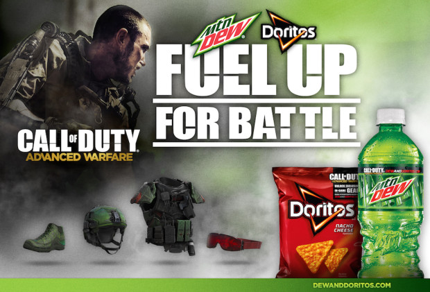 You can buy Mt. Dew and Doritos to unlock Call of Duty Advanced Warfare Supply Drops.