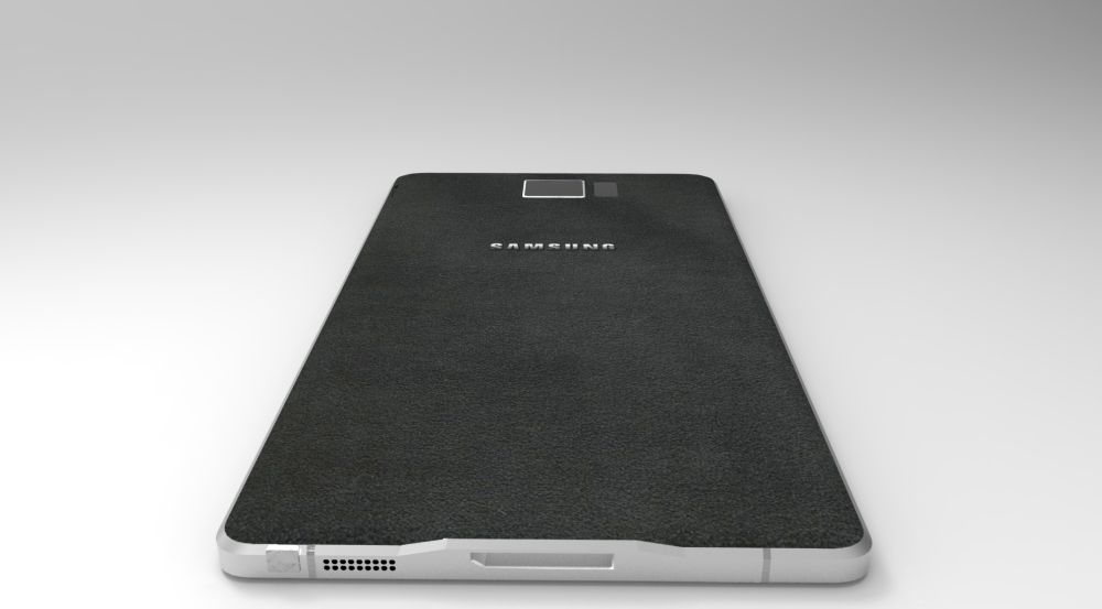 This shows the Galaxy Note 4 design based on leaks. (Concept-Phones)