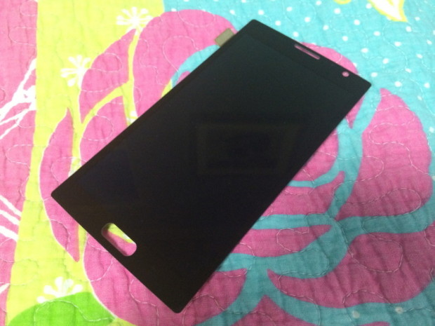 This could be the Galaxy Note 4's front panel.
