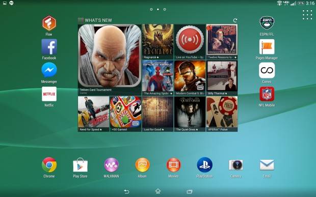 Sony changes the look of Android on the Xperia Z2 tablet.