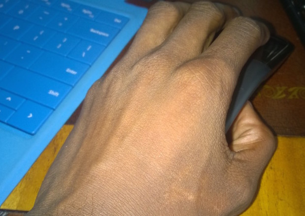 acr touch mouse surface edition in hand