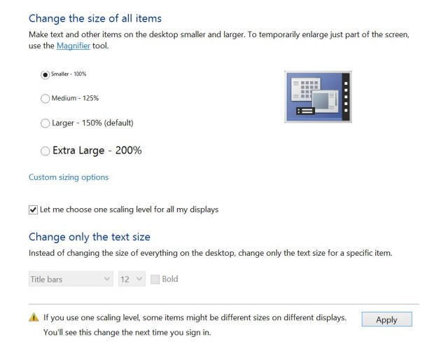 advanced display scaling settings