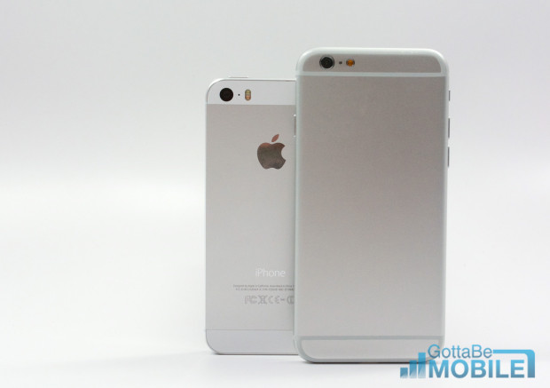 Expect the iOS 8 update to add this to the iPhone 5s and the iPhone 6 to launch with simultaneous voice and data support.