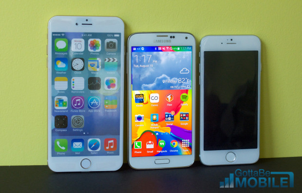 See how the iPhone 6 vs Galaxy S5 displays compare.
