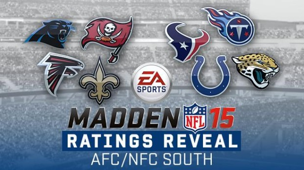 Check out the Madden 15 team ratings for South and North.