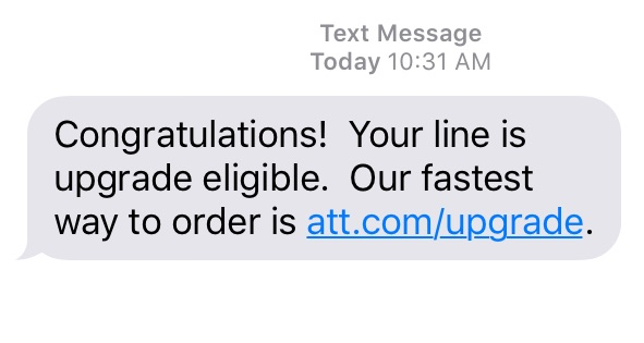 Check AT&T iPhone upgrade status with a call.