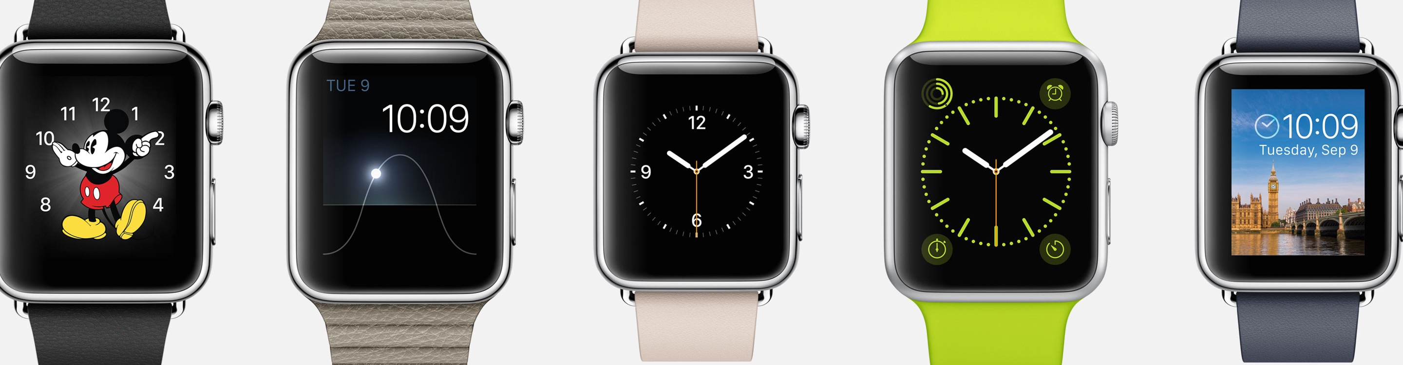 Pick the Apple Watch face you want, including classics like Mickey.