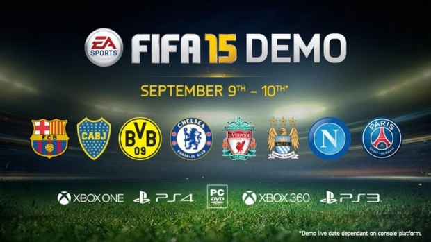 FIFA 15 demo details reveal the teams and play modes.