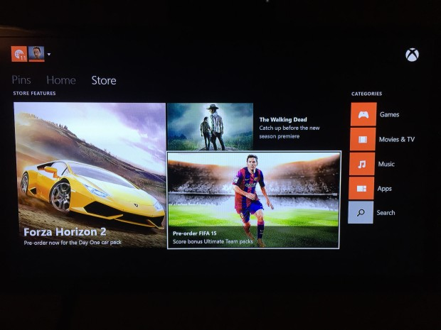 Find FIFA 15 in the store.