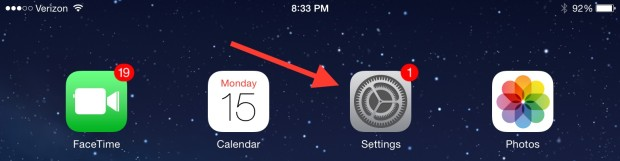 Go to Settings to check for the iOS 8 update.