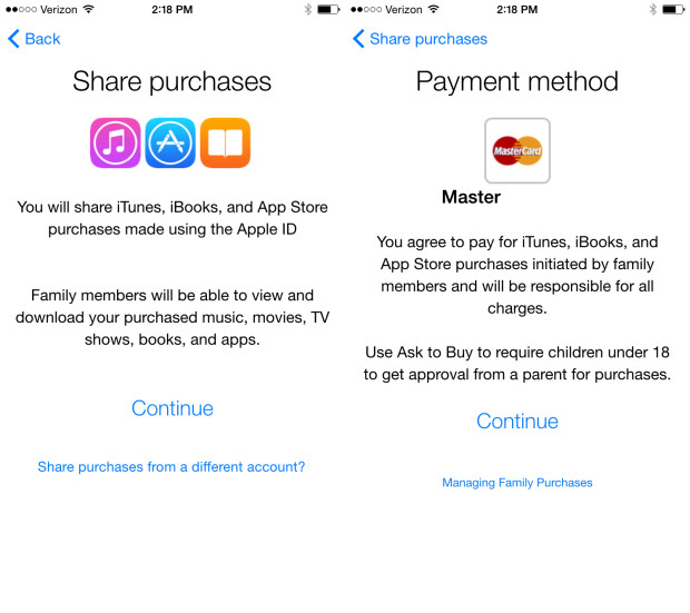 Confirm sharing and payment options.