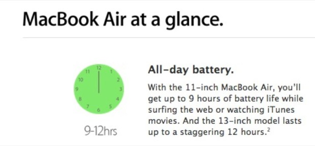 Apple Battery Life Compared