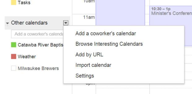 google calendar browser interesting