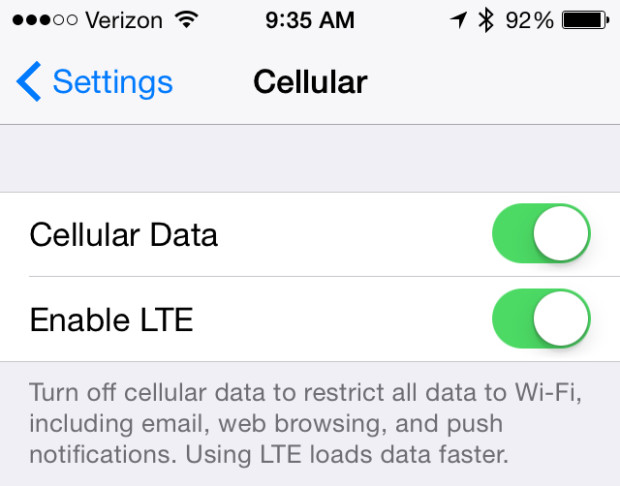 Turn off LTE when you are in poor coverage.