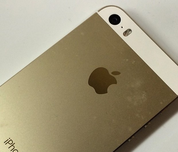A gold iPhone 6 can show some odd wear if you don't keep it clean.