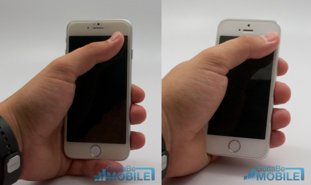 The iPhone 6 screen is bigger, but still usable with one hand.