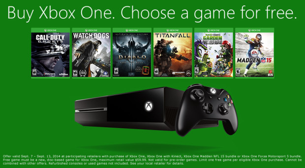 september xbox one promotion