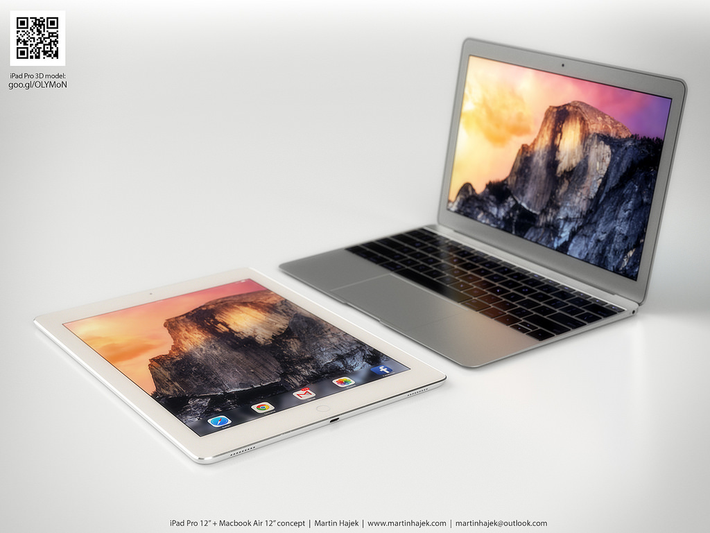 new macbook air ipad pro concepts bring rumors to life. Black Bedroom Furniture Sets. Home Design Ideas