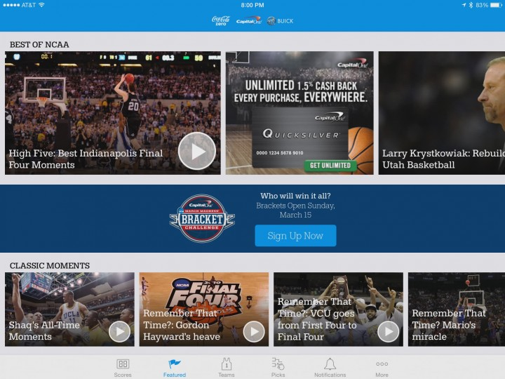 ncaa march madness live news