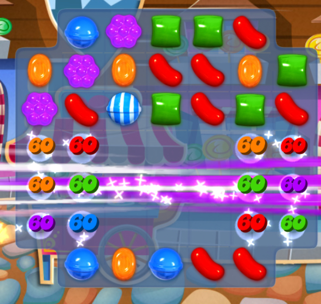 With the right matches you can clear a lot of the Candy Crush board.