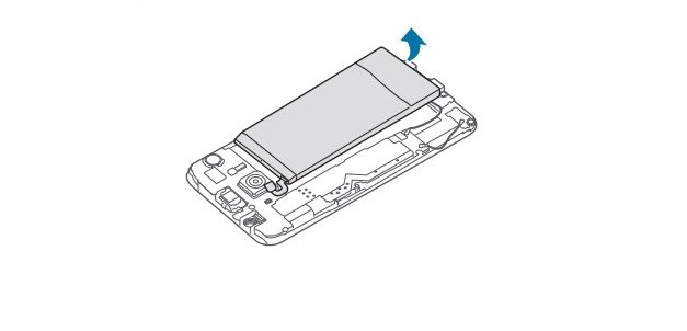 Remove the Galaxy S6 battery and replace it with a new one.