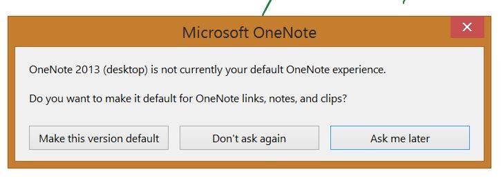 change default onenote app
