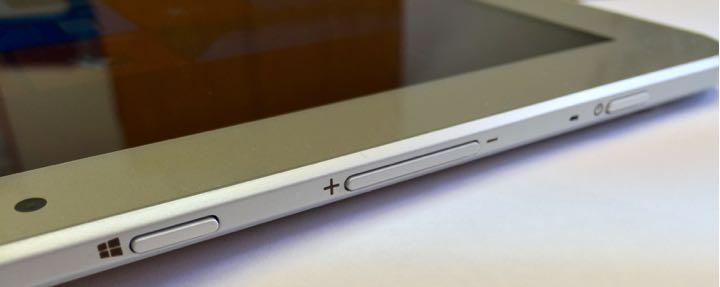 Toshiba Encore 2 Write tablet stylus top