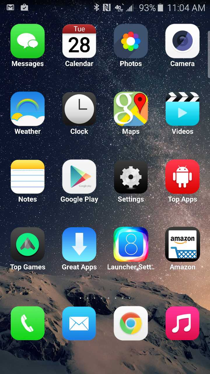 8 launcher ios on android