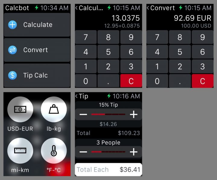 Use as a Calculator