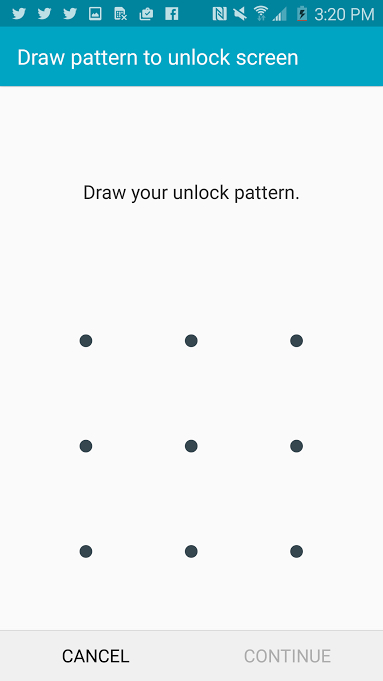 You can also set a pattern.