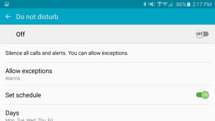 Configure Galaxy S6 Do Not Disturb mode the right way.