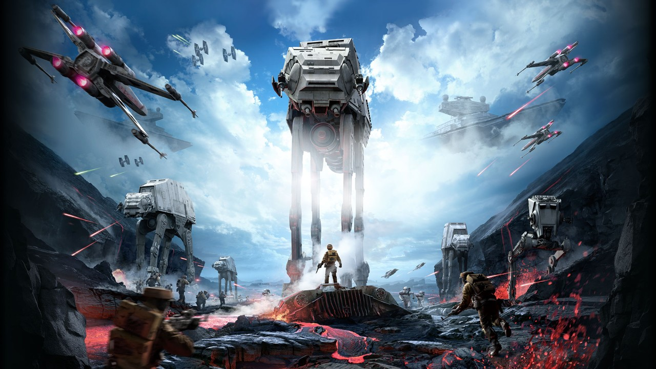 The rest of us are still waiting to see the PS4 Star Wars: Battlefront gameplay footage.