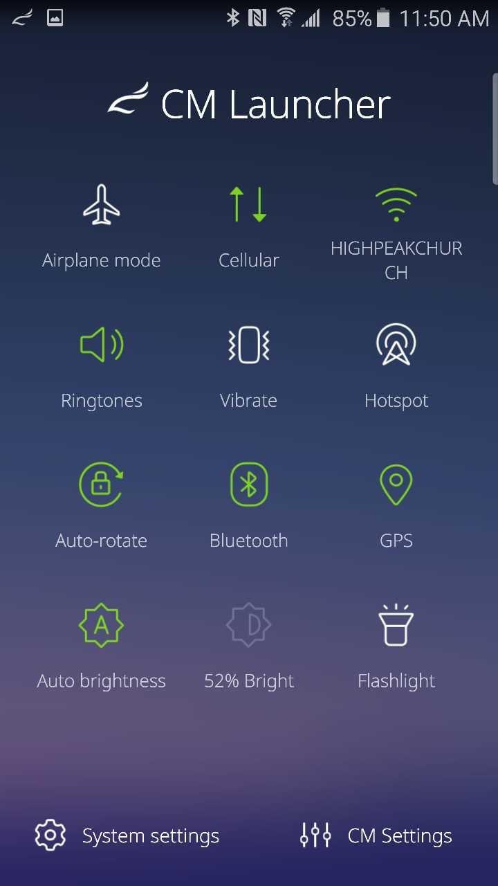 cm launcher settings