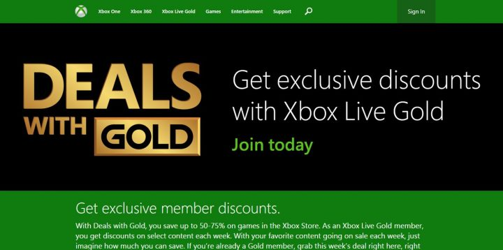 deals with gold website
