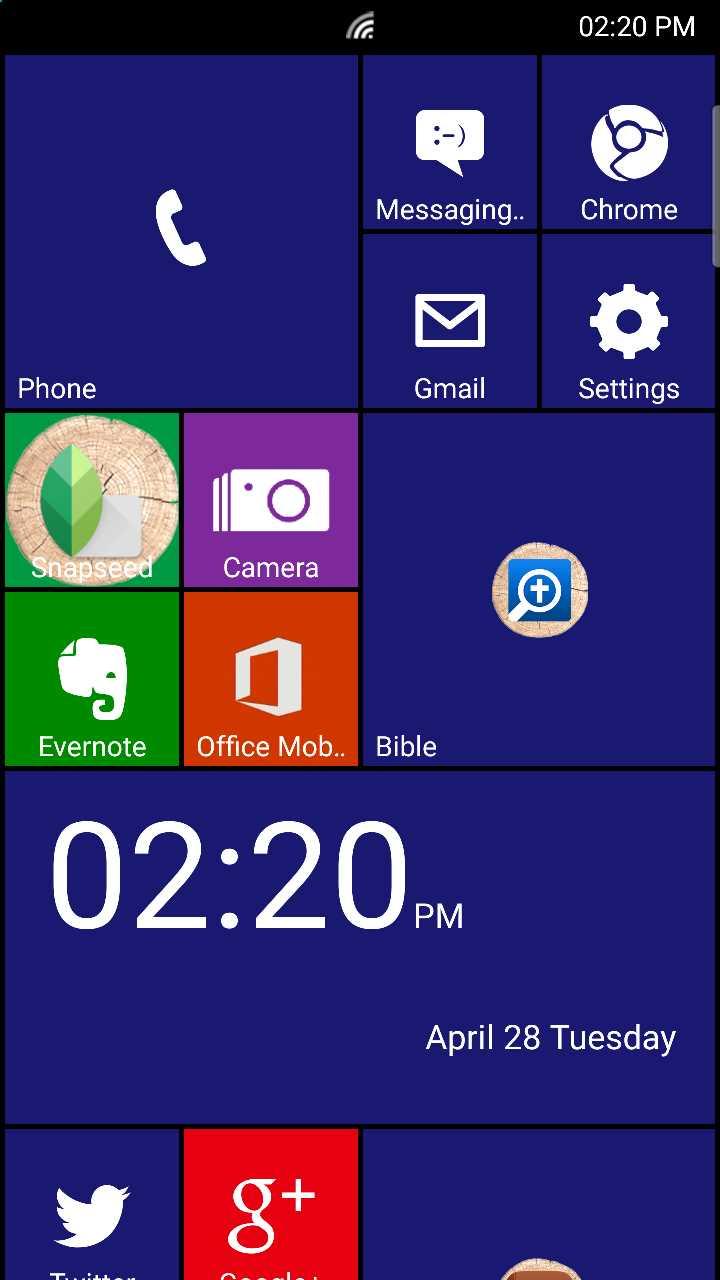 laucher 8 windows phone 8_1 theme