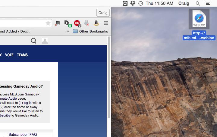 mac os how to create shortcut on desktop