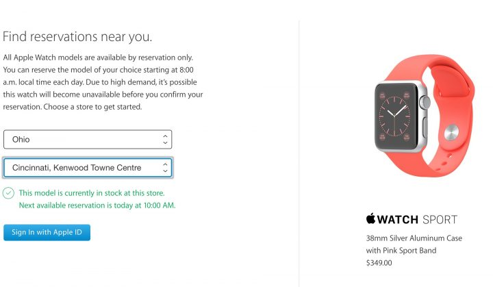 The availability for some Apple Watch models is low.