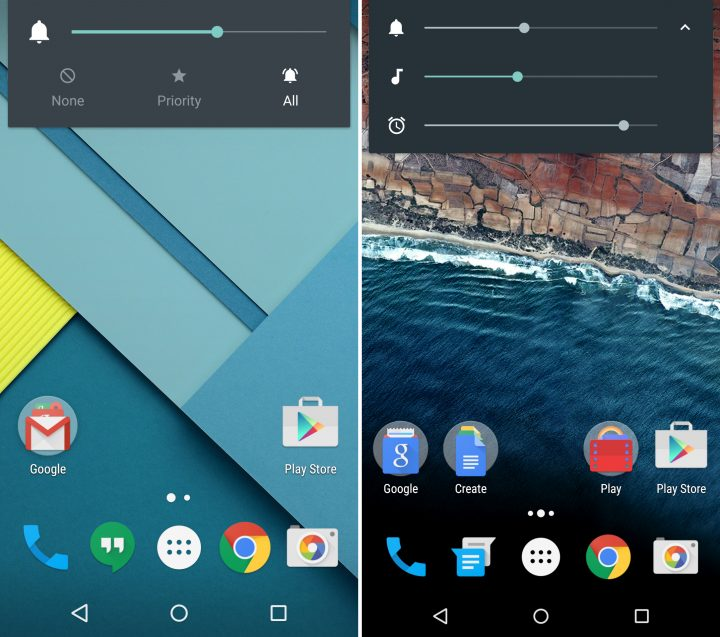 Android 5.1 vs Android M - Volume Controls