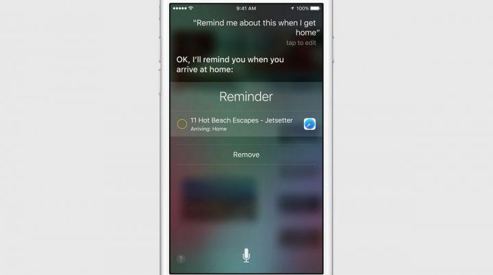 Siri-reminder