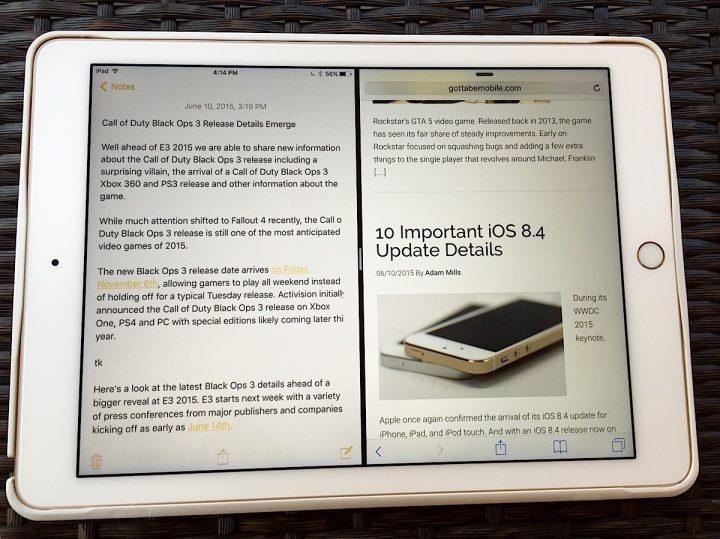 iPad Multitasking in iOS 9