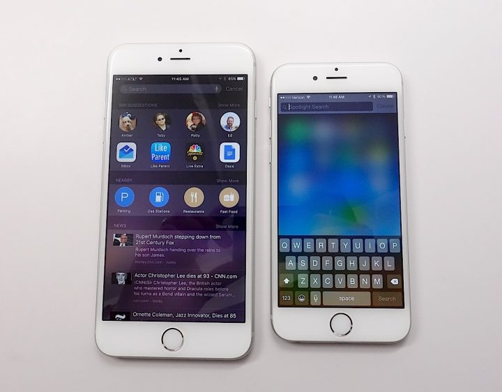 iOS 9 vs iOS 8 iPhone Search on Steroids