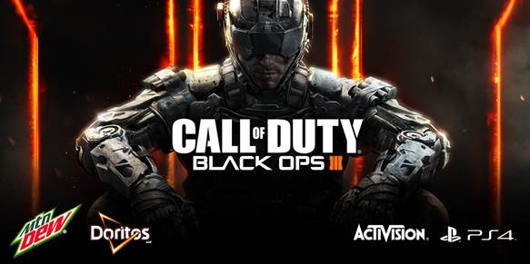 Earn double XP in Call of Duty: Black Ops 3 Zombies mode with Mountain Dew and Doritos.