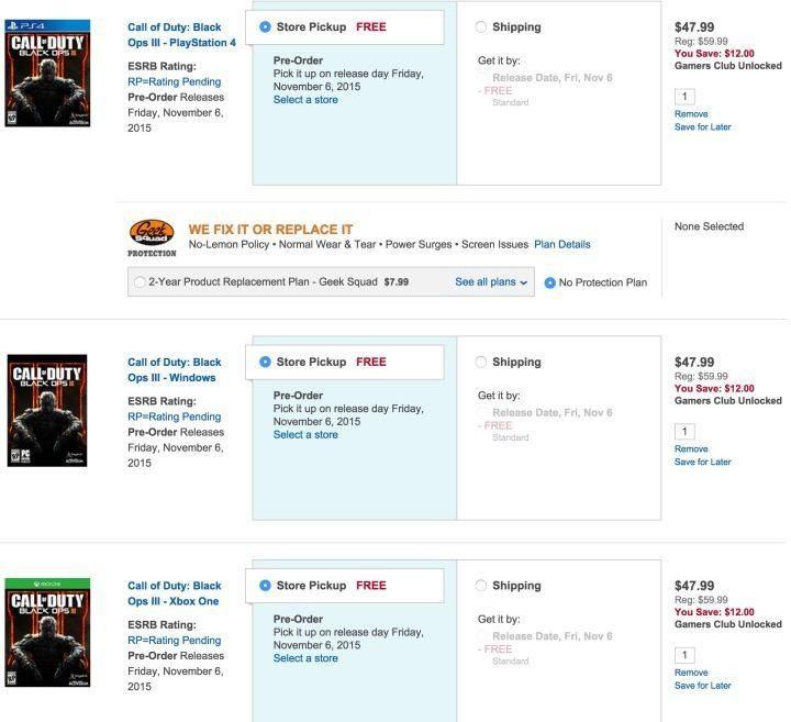 Call of Duty: Black Ops 3 Deals